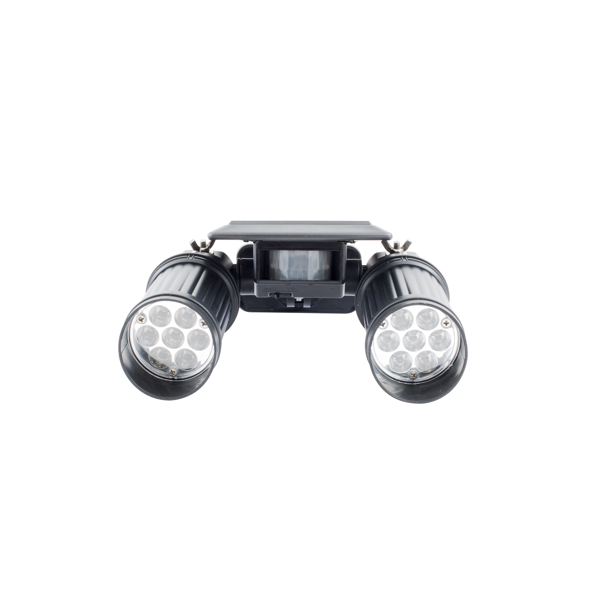 Double projecteur solaire led twinspot black beesolar for Projecteur double exterieur