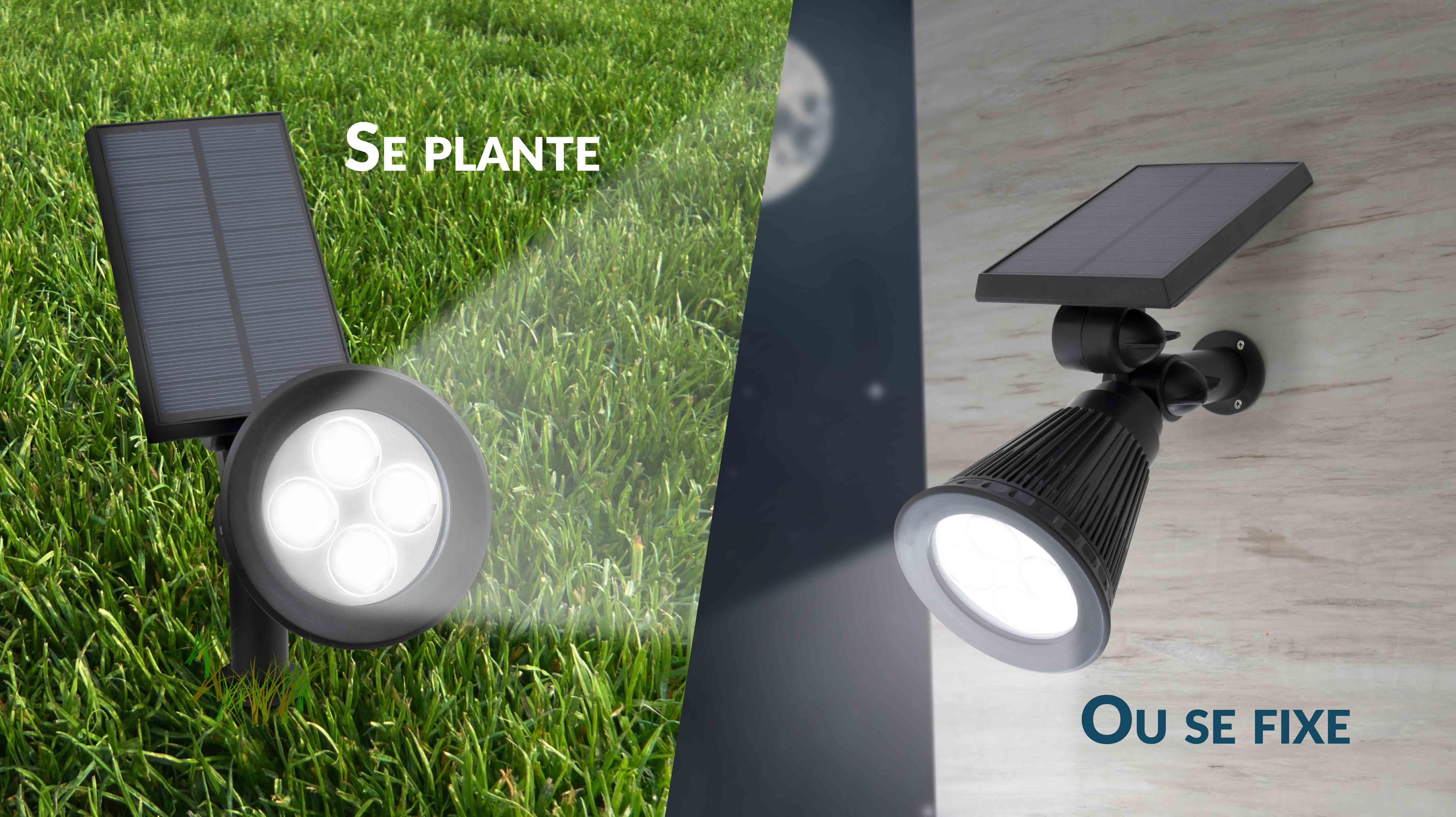 projecteur spot solaire led d ext rieur garden led beesolar. Black Bedroom Furniture Sets. Home Design Ideas