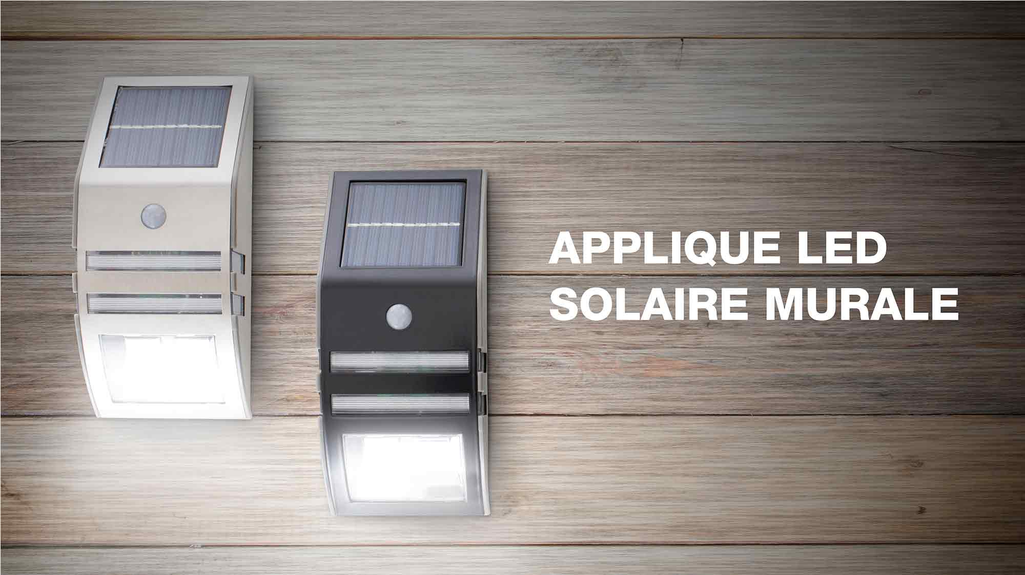 Solaire Applique Leds Mural Silver M2 Beesolar tQhsrCdx